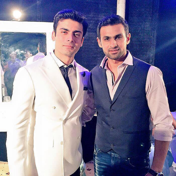 Shoaib Malik And Fawad Khan