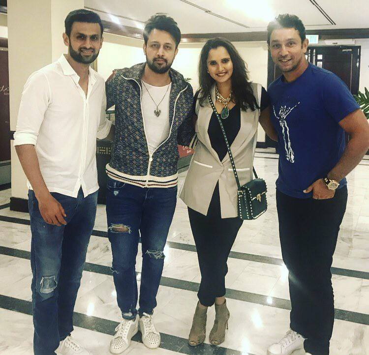 Shoaib Malik, Sania Mirza, Atif Aslam and Azhar Mehmood