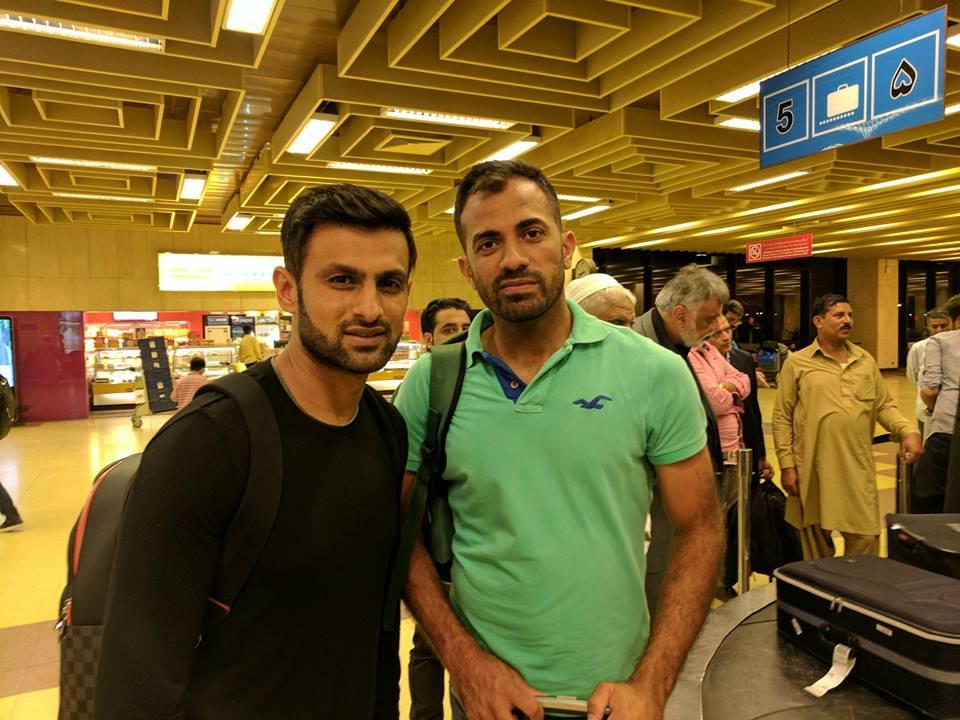 Shoaib Malik With Wahab Riaz