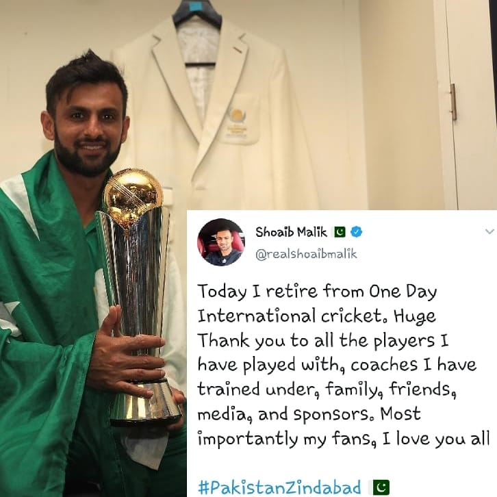 Shoaib Malik's Message To His Fans
