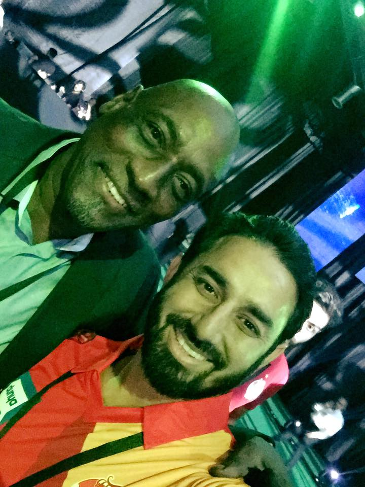 Sir Viv with Saeed Ajmal At The PSL Draft