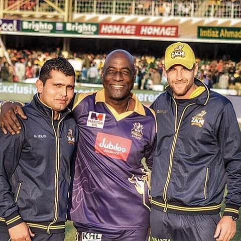 Sir Vivian Richards With Dawid Malan & Kamran Akmal