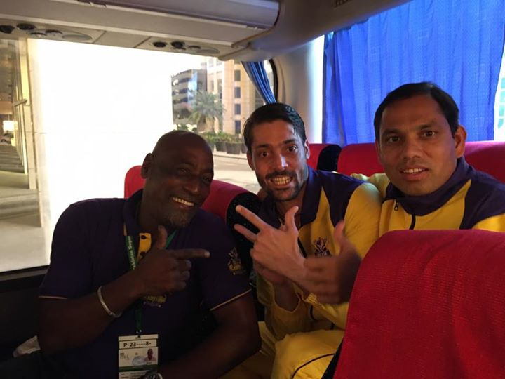 Sir Vivian Richards with Anwar Ali and Zulfiqar Babar - Quetta Gladiators