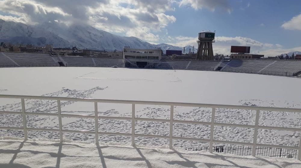 Snow Turns Quetta Cricket Stadium Into A Mesmerising Scene From Fairytales