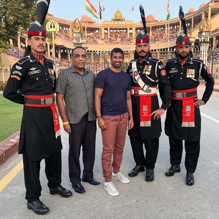Sri Lankan Legend Russel Arnold And Commentator Roshan Abhesinghe Visited Wagah Border