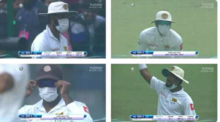 Sri Lankan Players Had To Wear Masks Due To Air Pollution In Delhi