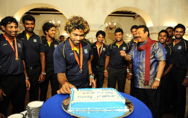 Sri Lankan Team Celebration at Presidential Residency in Colombo