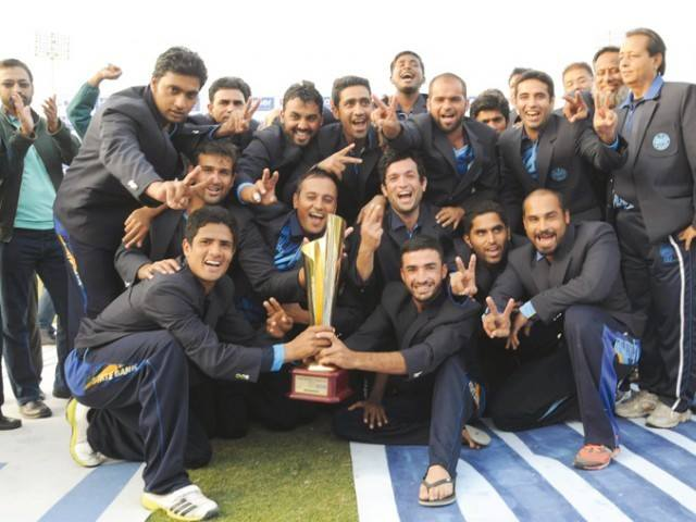State Bank of Pakistan celebrate winning the President's Cup Gold League