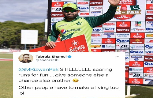Tabraiz Shamsi Passed Interesting Compliment To Muhammad Rizwan For His Current Form