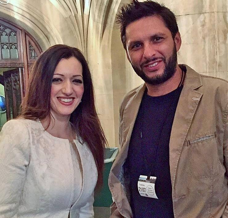 Tasmina & Shahid Afridi At the House of Commons