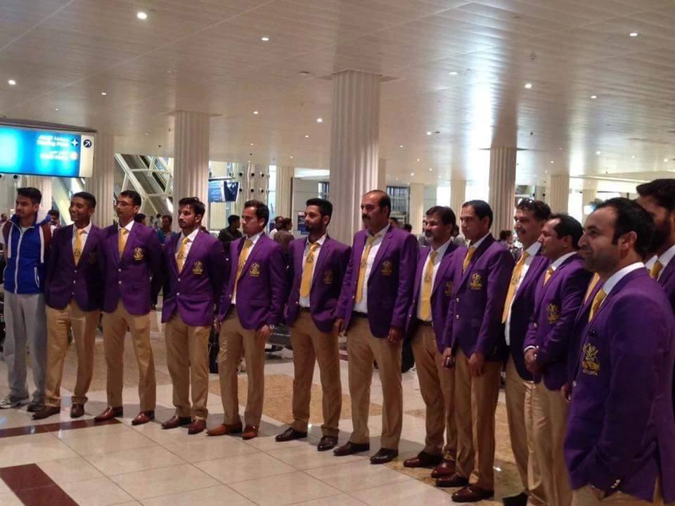Team Quetta arrive at Dubai for PSL