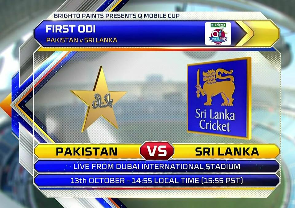 The 1st ODI Between Pak Vs SL On Friday