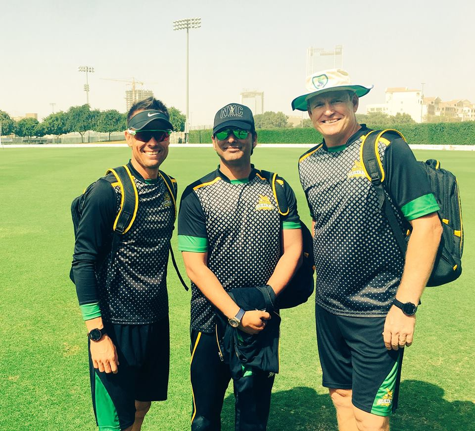 The Multan Sultan's Coaching Staff! Johan Botha, Mohammad Wasim & Tom Moody