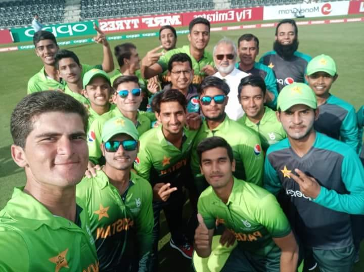 The Quarter Final Winning Selfie Of Pakistan U19