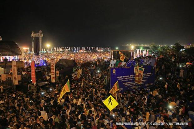 The scene in Colombo last night