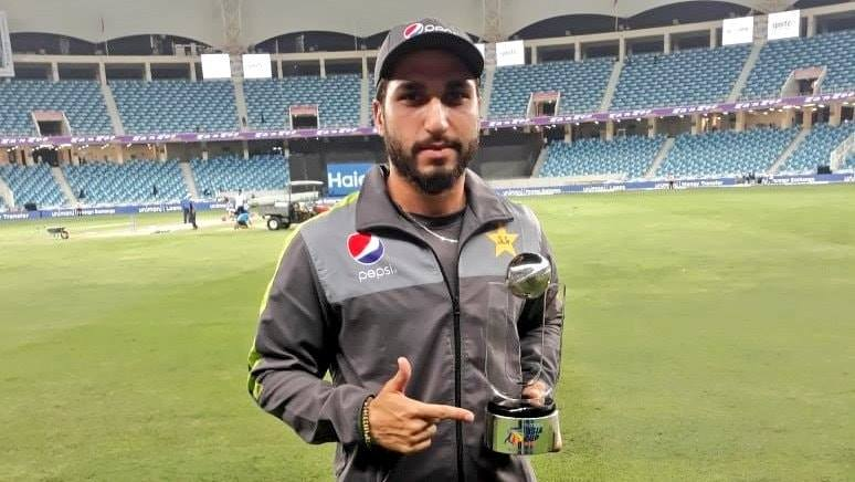Three Wickets In An Over Of Usman Shinwari Against Hong Kong