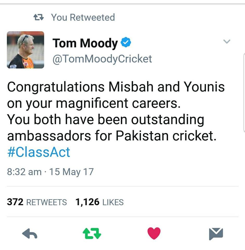 Tom Moody Tweet