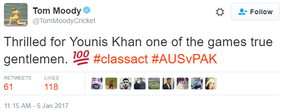 Tom Moody tweets.