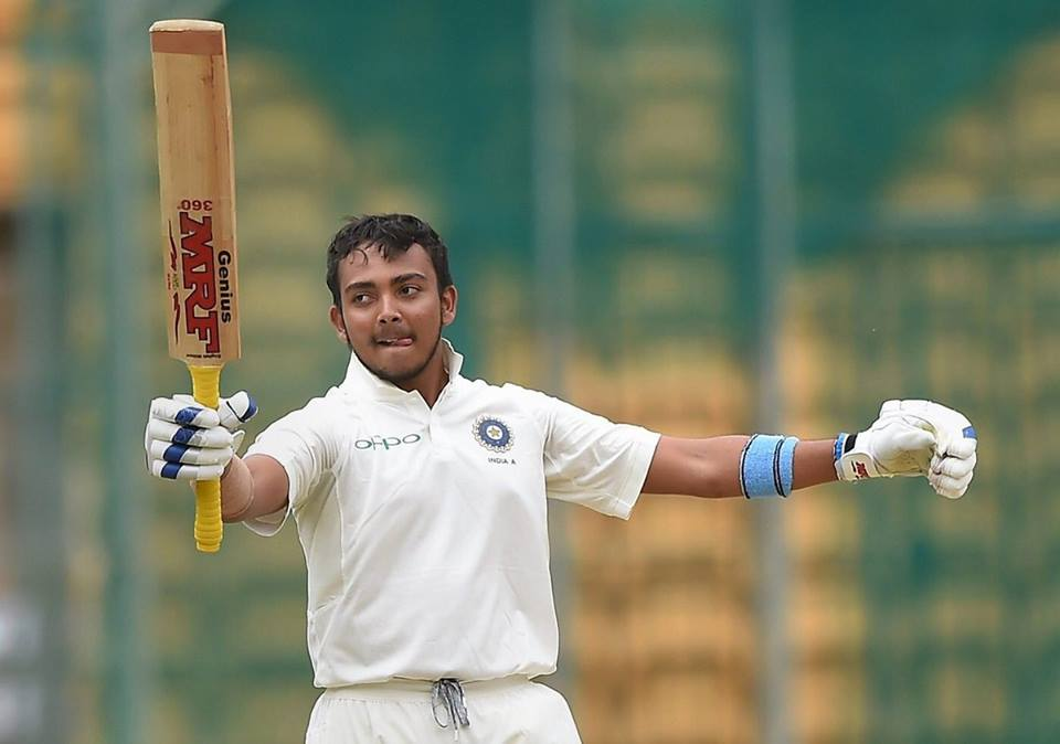 Top Class Century On Test Debut By Prithvi Shaw At The Age Of 18