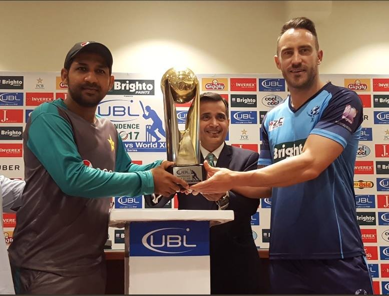 Trophy Unveiling Ceremony Of Independence Cup Between Pakistan & World XI