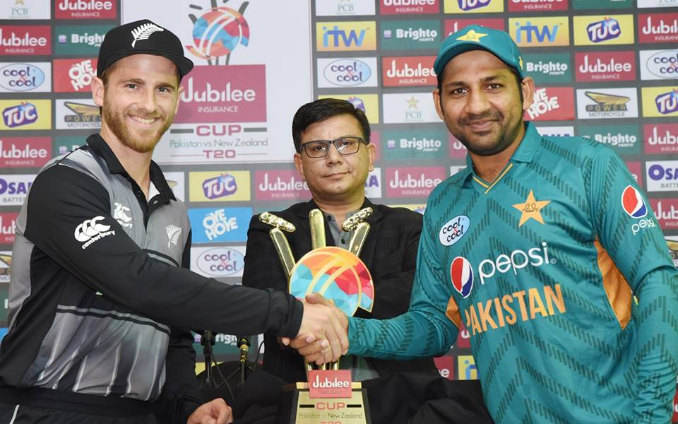 Trophy Unveiling Of T20 Series Between Pak Vs New Zealand