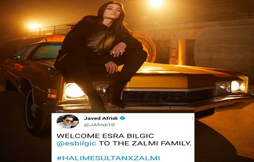 Turkish Actress Esra Bilgic Welcomed By Javed Afridi To Zalmi Family