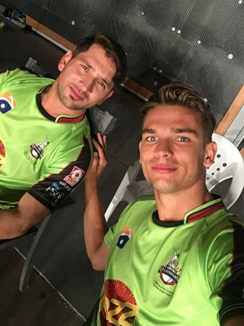 Two Lahore Qalandars Stars Yasir Shah & Chris Green