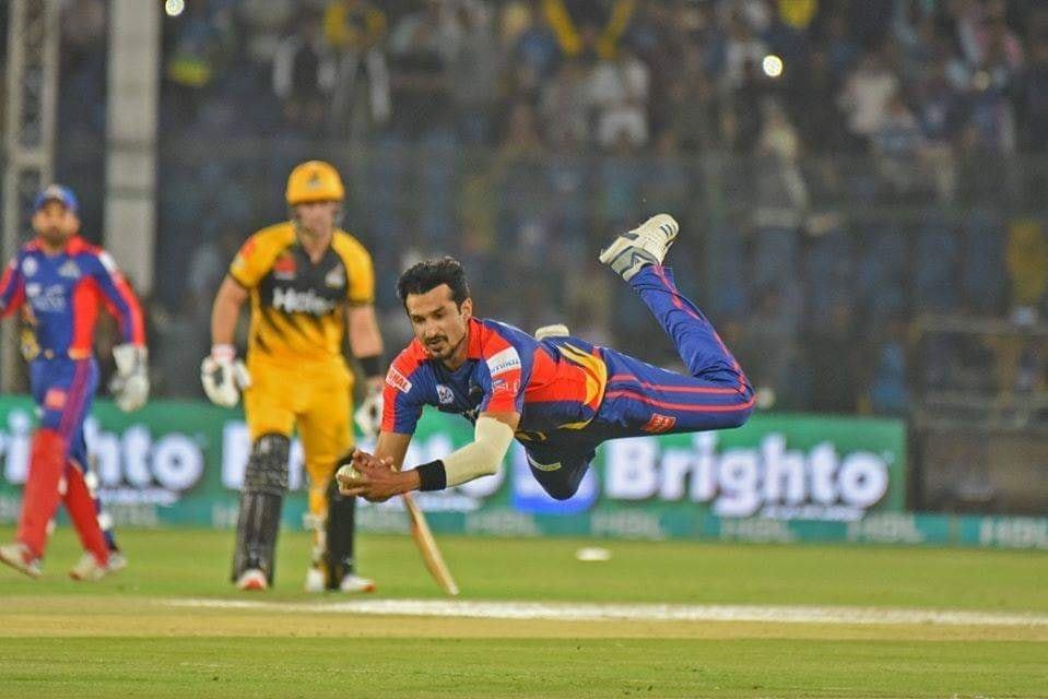 Umaid Asif Takes A Great Catch