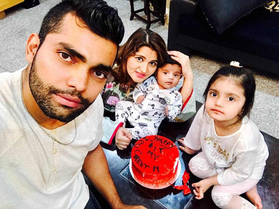 Umar Akmal Celebrating His Wife