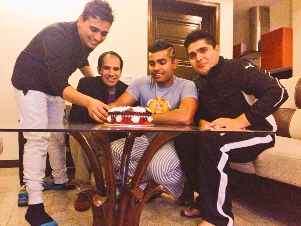 Umar Akmal Celebrating the Birth Of His Daughter