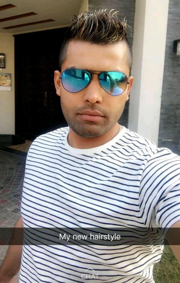 Umar Akmal New Hair Style