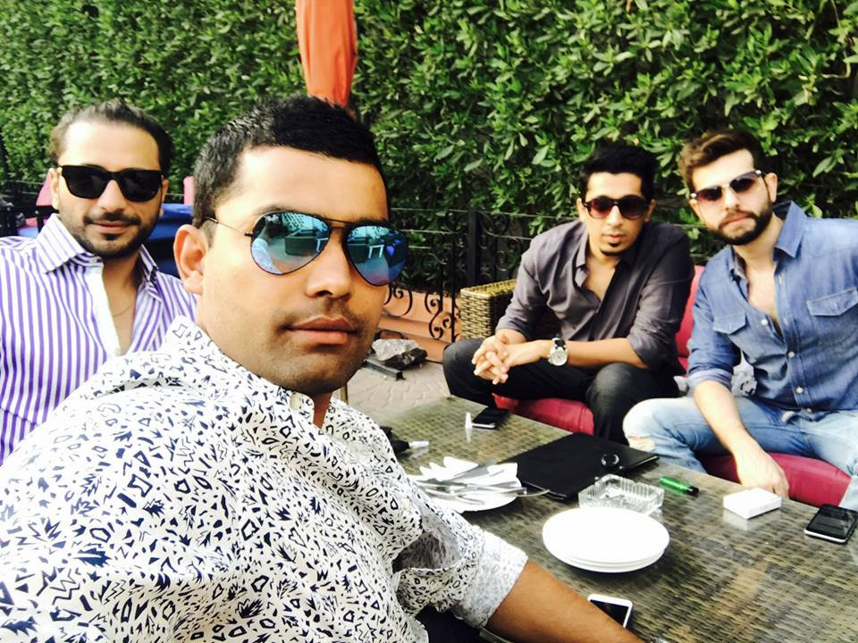 Umar Akmal With His Friends