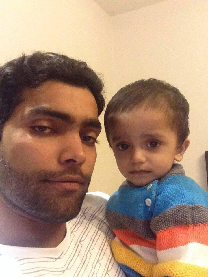 Umar Akmal With His Nephew Arham
