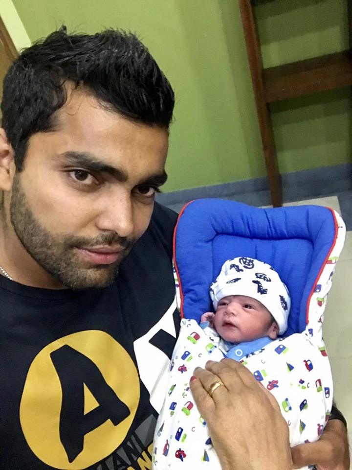Umar Akmal With His New Born Baby Boy
