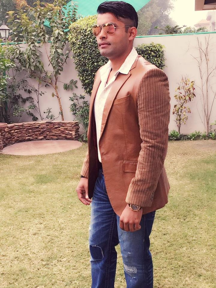 Umar Akmal pictured after reaching his home today
