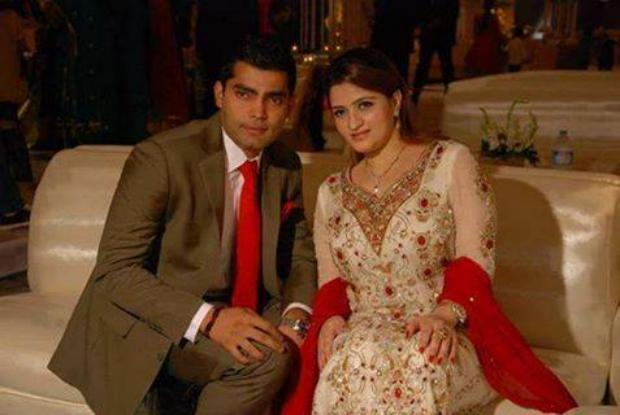 Umar Akmal with His Wife Noor Amna