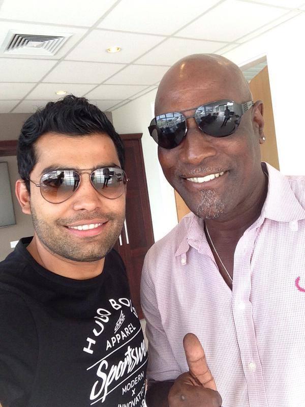 Umar Akmal with Sir Viv Richards