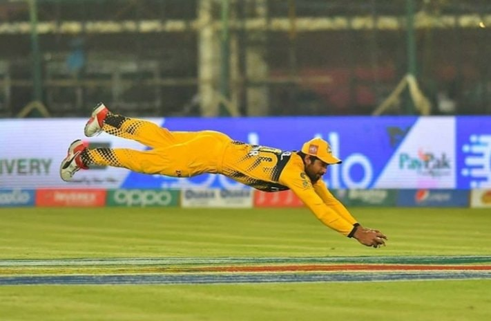Umar Amin Takes A Stunner Catch Yesterday