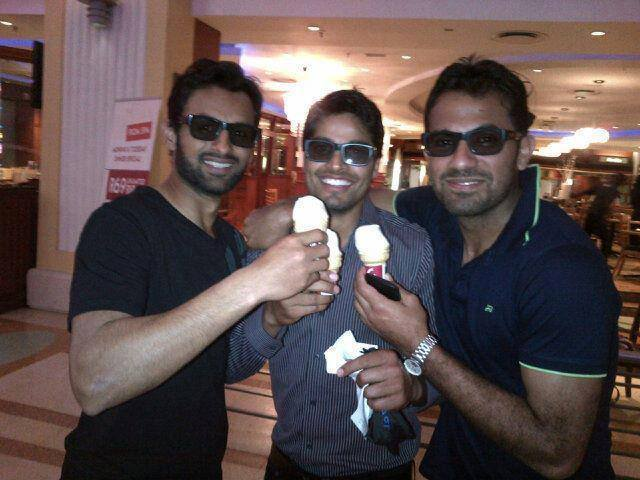 Umar Amin Wahab Riaz and Malik Having Some Fun Time