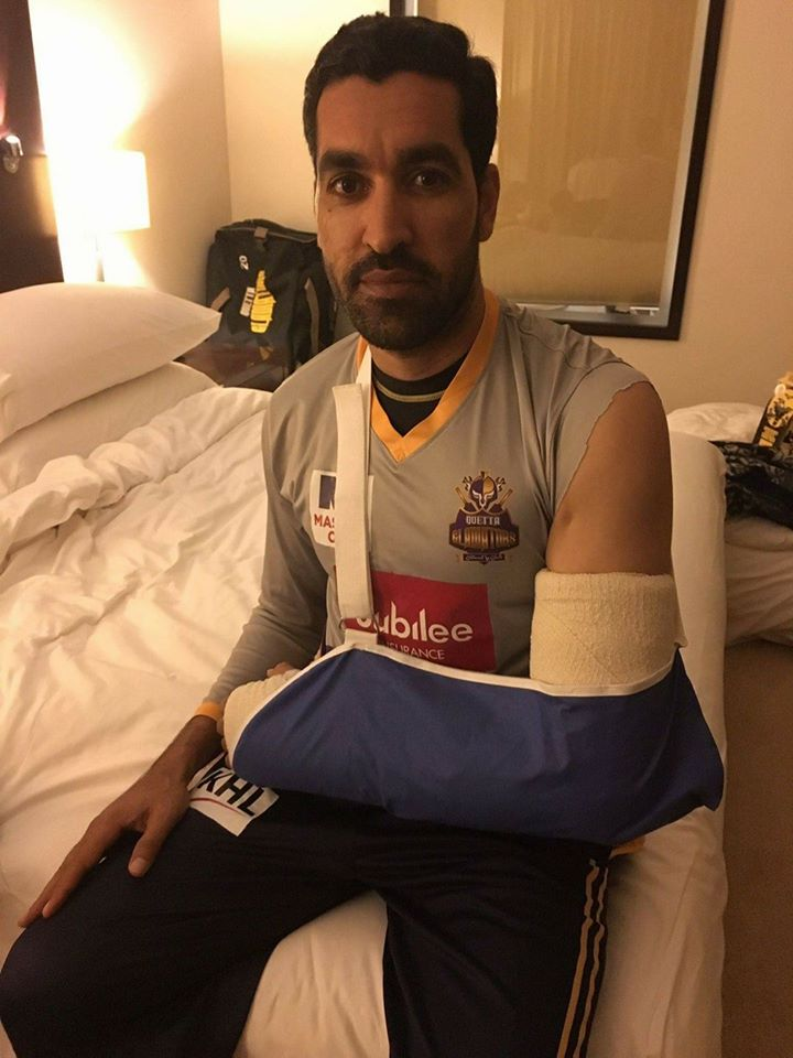 Umar Gul Has Fractured In His Arm
