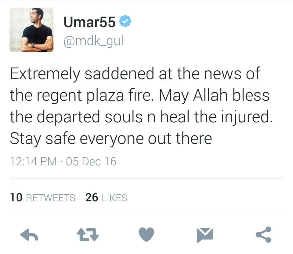Umar Gul Tweet