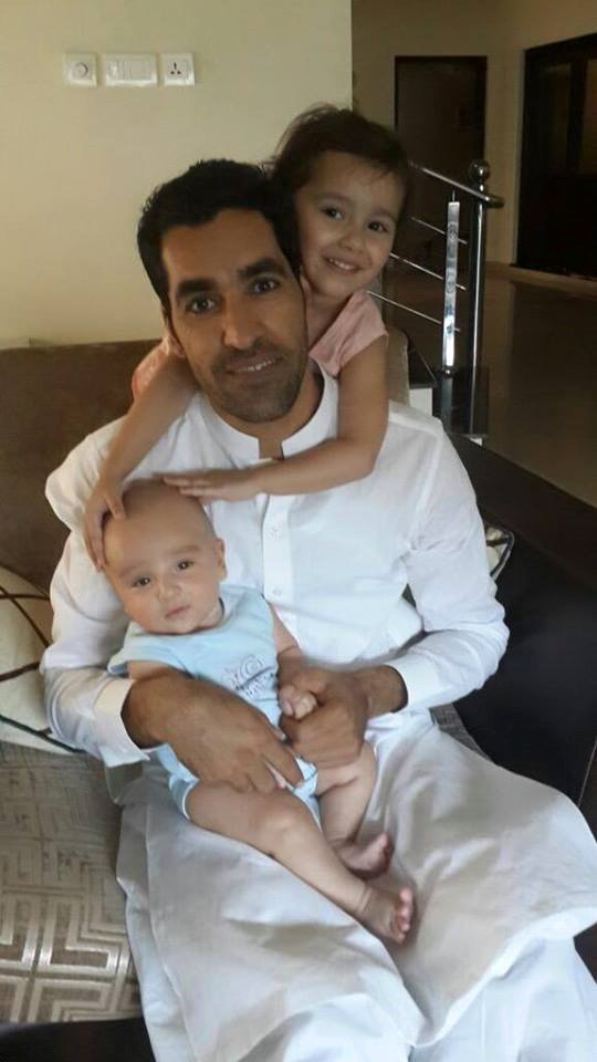 Umar Gul With Daughter And Son