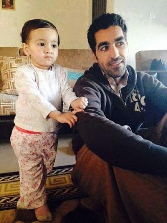 Umar Gul With His Cute Baby Girl
