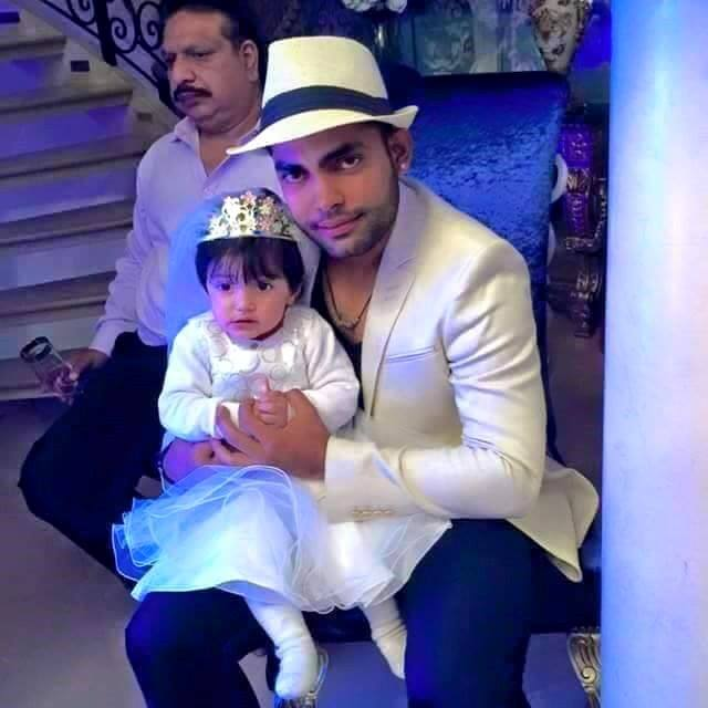 Umer Akmal Pictured with his Daughter