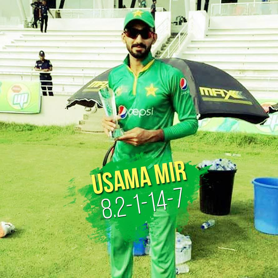 Usama Mir Named Man Of The Match Against Hong Kong
