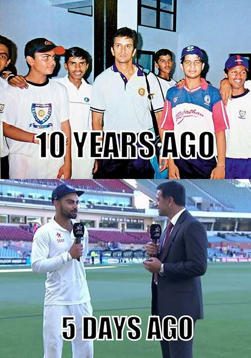 Virat Kohli With Legend Rahul Dravid Over The last 10 years