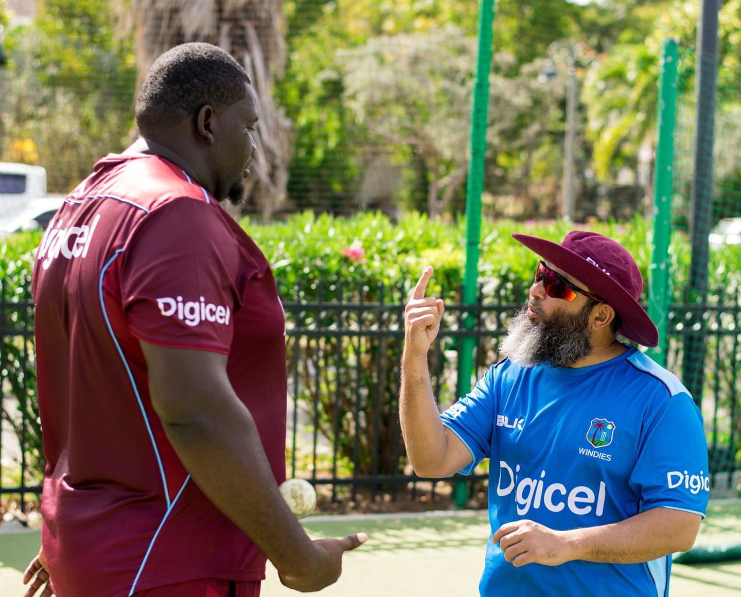 WI Bowling Coach Mushtaq Ahmed With Biggest Cricketer Of The World Rahkeem Cornwall