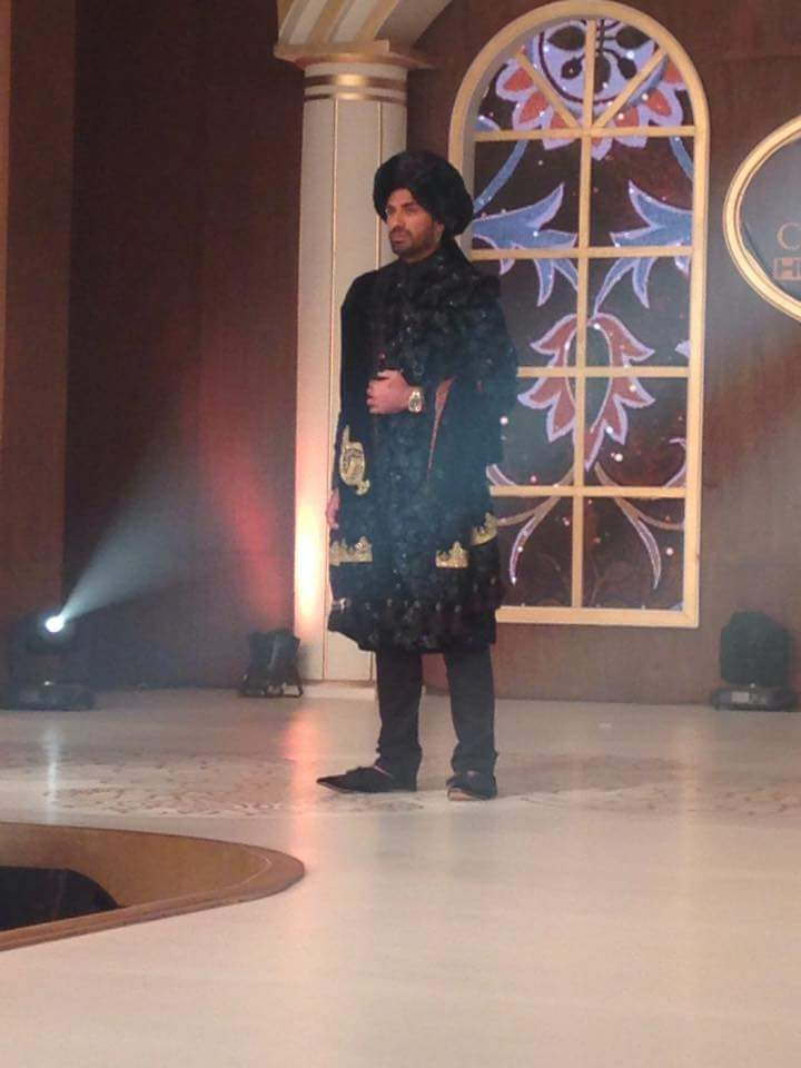Wahab Riaz On Stage As A Model In TBCW 2015 In Lahore