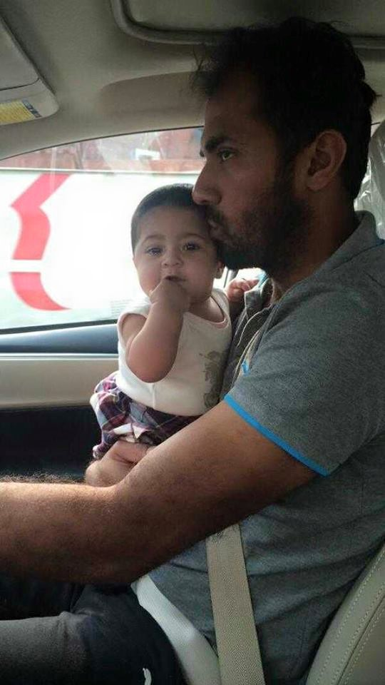Wahab Riaz With Daughter Daughter Eshal
