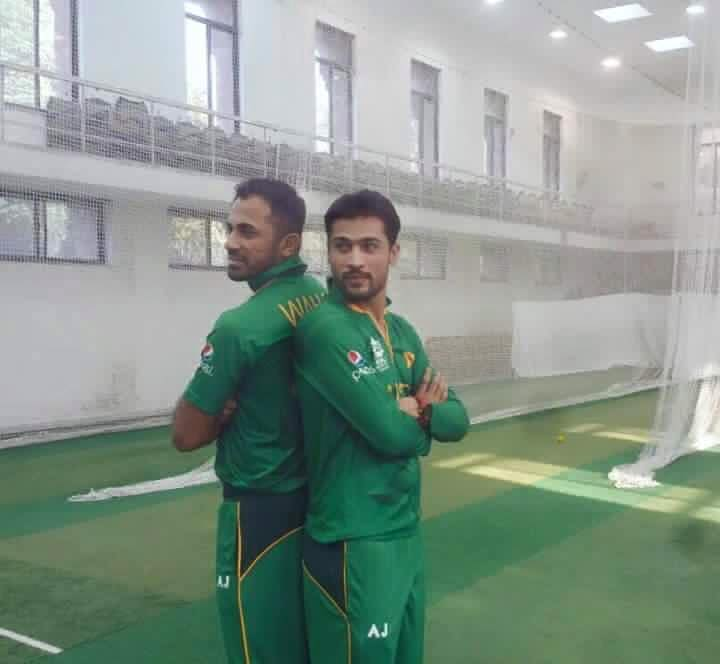 Wahab and Amir in new kit